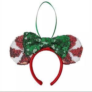 🍭 Minnie Ear Headband Peppermint Candy Ornament